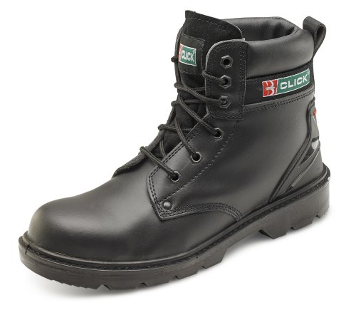 Click Workwear Mens Leather 6 Inch Anti Static/Slip Eyelet Tie Safety Work Boot