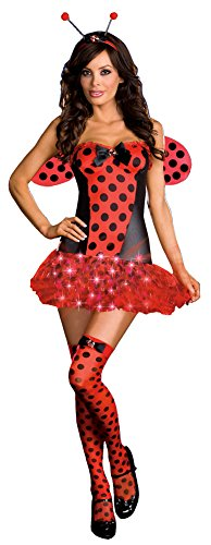 [Light Me Up Ladybug Costume - X-Large - Dress Size 14-16] (Light Me Up Ladybug Dress Costumes)