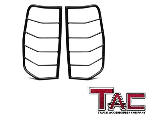 TAC Rear Tail Light Guards Cover Protector for TAC 2007-2014 GMC Sierra 1500 / 2500 HD / 3500 (Excl. 1500 2014 Model)(New Body Style) TLG BLACK Taillight – 1 Pair