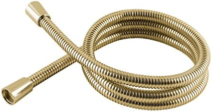 MX Group 5017706600026 1.5 m Stainless Steel Hi Flow Double Interlock Shower Hose Gold Effect 1.5m