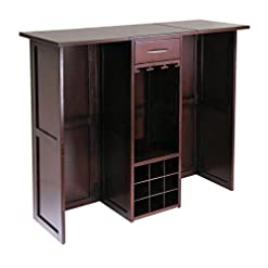 Home Bar Cabinetry Winsome 94350 Newport Wine Storage, Walnut home bar cabinetry