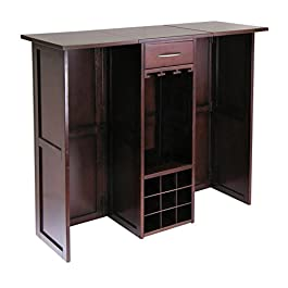 Winsome 94350 Newport Wine Storage, Walnut