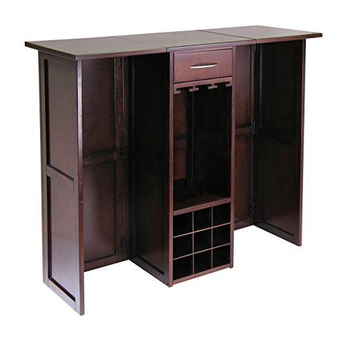Winsome 94350 Newport Wine Storage, Walnut (Top Bar Cabinet)