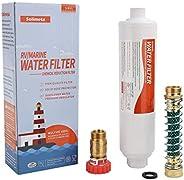 Solimeta RV Marine Water Filter with Flexible Hose Protector, Water Pressure Regulator for RV Camper, Garden H