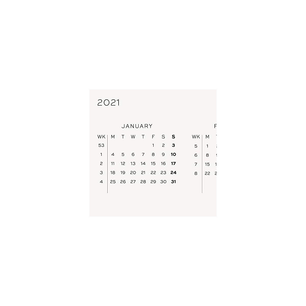 Agenda 2021 formato A4 blu navy 2 pagine Imprint Press