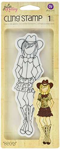 Prima Marketing Mixed Media Doll Cling Rubber Stamps, Bec...