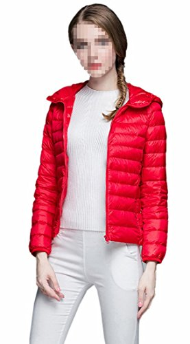 Generic Women's Light Packable Packable Puffer Down Coat Red
