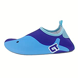 SENFI Boys Girls Water Shoes Mutifunctional Barefoot Quick Dry Aqua Shoes For Beach Pool Eercise (Toddler/Little Kid/Big Kid),NS02,Blue,24.25
