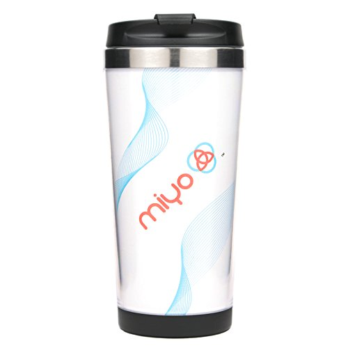 MIYO (Make It Your Own) Insulated Stainless Steel DIY Tumbler, 16oz, Black]()