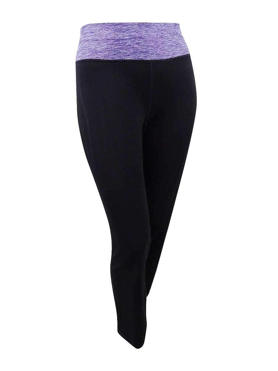 Ideology Womens Plus Size Rapidry Open-Leg Yoga Pants