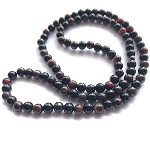 Luxury Defined Men's Necklace Black Onyx, Cats Eye 8mm Natural Gemstone Beaded Jewelry 29-30