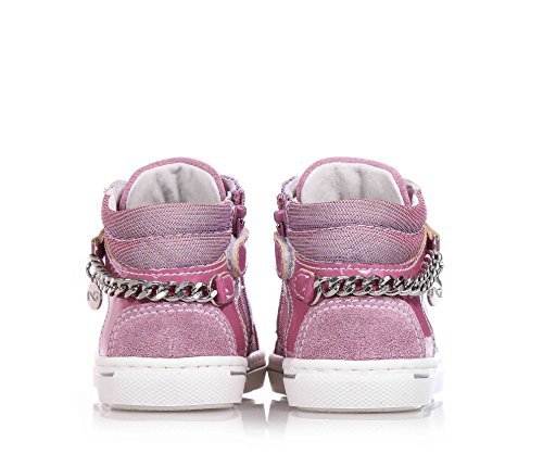 NERO GIARDINI - Lila Sneakers mit Schnürsenkel aus Synthetik- Stoff und Wildleder, Kind, Mädchen