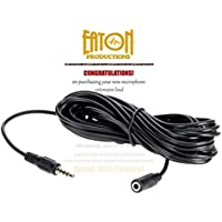 Eaton P 20 foot (6m) 3.5mm TRRS Microphone Extension Cable for Smartphones - record from a distance