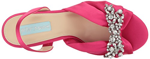 Women Sandal Betsey Dress Johnson Fuchsia Blue Sb by Briel Satin qCwx0g