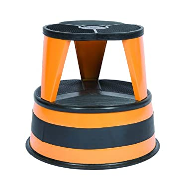Cramer 1001-30 Kik Step Rolling Step Stool, Orange Zest