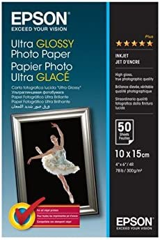 Epson S041943, Ultra Glossy Papel fotográfico: Amazon.es: Oficina ...