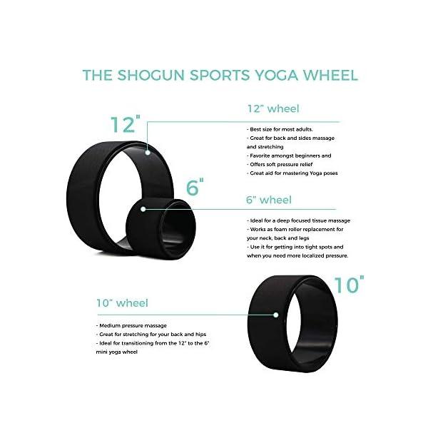 Yoga Wheel Roller for Back Pain Shogun Sports Yoga Wheel Improving Flexibility and Backbends. Stretching