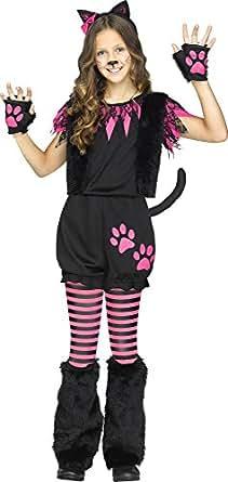Fun World Girl's Sweet Kitty Romper Kitten Costume (12-14)