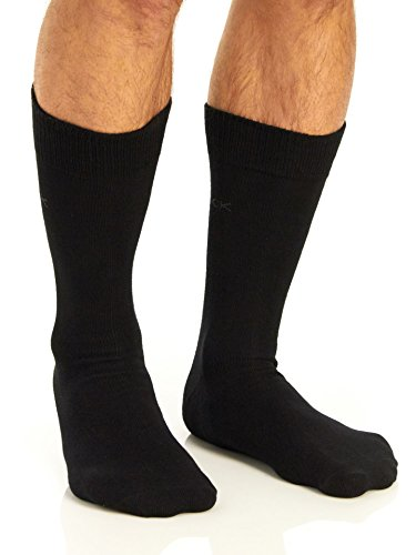 Calvin Klein Men's Casual Crew Socks - 4 Pack, Black, One Size by Calvin Klein