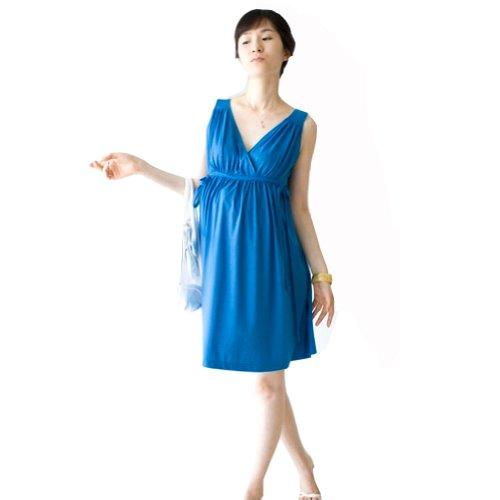 Damen Umstandsmode Kleid VAusschnitt Comfort Fit Schwangerschaft ...