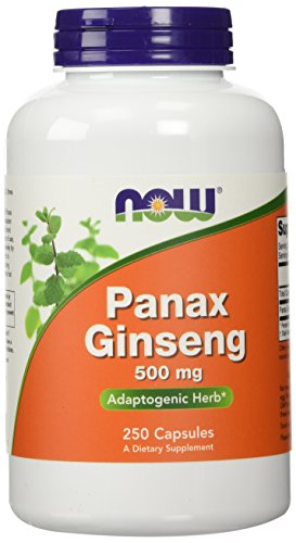 NOW Panax Ginseng 500 mg,250 Capsules
