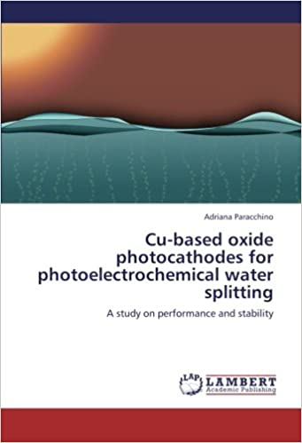 Book Cu-based oxide photocathodes for photoelectrochemical water splitting: A study on performance and stability
