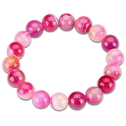 Natural Stone Crystal Bead Link Chain Bracelet For Women Men