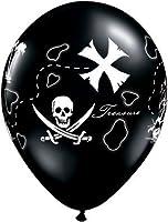 """11"""" Pirate's Treasure Map Latex Balloons Bag of 10"""
