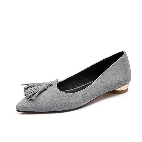 Asakuchi bajo Moda primavera-verano Señora zapatos/Zapatos de la espiga/viajero puntiagudos peelings A