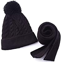 Wooly Bugged Little Girls' Scarf and Hat Set Solid Color