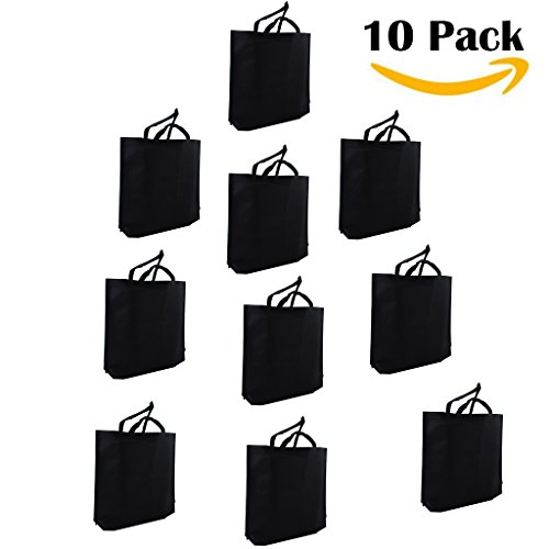 LazyMeReusable Grocery Bags, Set of 10,Large Tote Bags,18x