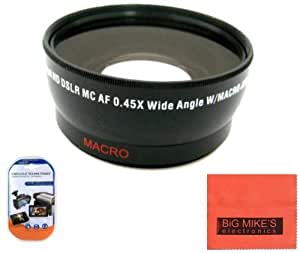 58mm 0.43X Wide Angle Lens For Canon Digital EOS Rebel SL1, T1i, T2i, T3, T3i, T4i, T5, T5i EOS60D, EOS70D, 50D, 40D, 30D, EOS 5D, EOS5D Mark III, EOS6D, EOS7D, EOS7D Mark II, EOS-M Digital SLR Cameras Which Has Any Of These Canon Lenses 18-55mm IS II, 18-250mm, 55-200mm, 55-250mm, 70-300mm f/4.5-5.6, 75-300mm, 100-300mm, EF 24mm f/2.8, 28mm f/1.8, 28mm f/2.8, 50mm f/1.4, 85mm f/1.8, EF 100mm f/2 , EF 100mm f/2.8, MP-E 65mm f/2.8, TS-E 90mm f/2.8