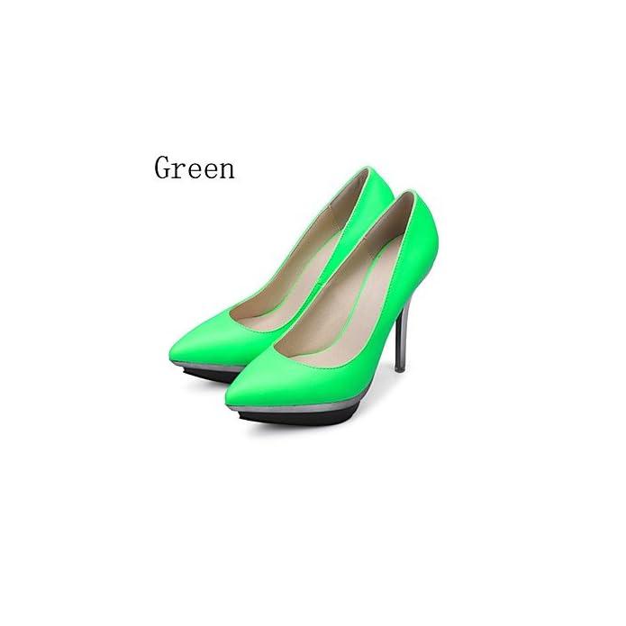 Lvyuan-ggx Scarpe Donna-scarpe Col Tacco-formale casual Serata E Festa-tacchi plateau A Punta-a Stiletto-finta Pelle-blu verde Rosso Silver Us6 5-7 Eu37 Uk4 5-5 Cn37