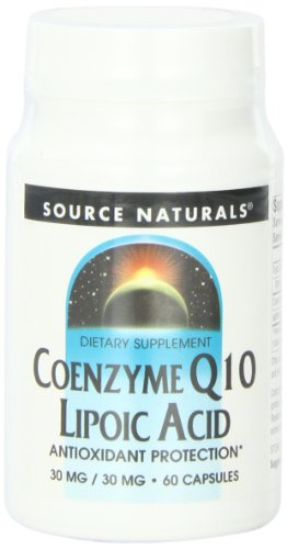 Source Naturals Coenzyme Q10,/Lipoic Acid 30mg/30mg, 60 Capsules