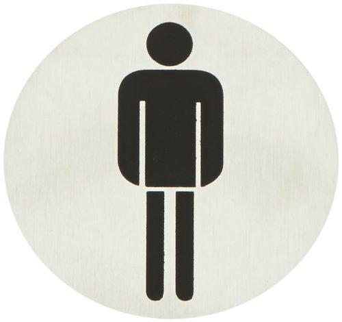 """2 opinioni per Blomus Signo 68141 Targa per porta """"WC uomini"""""""