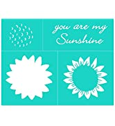 Chalk Transfers Silk Screen Sunflower Stencil Wall Decor for Painting on Wood DIY Self Adhesive R...