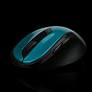 Mchoice 2.4GHz Wireless Gaming Mouse USB Receiver Pro Gamer for PC Laptop Desktop (Green)