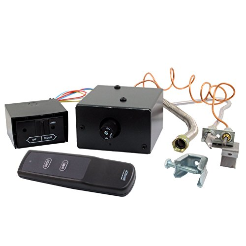 Safety Pilot Kit Fireplace - Skytech AF-LMF/RVS Manual On/Off Gas Valve Kit with On/Off/Hi/Med/Lo Remote