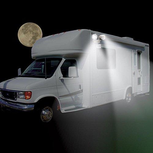 MAXSA Innovations Motion-Activated Dual Head LED Security Spotlight,