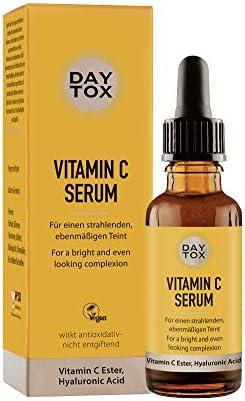 DAYTOX Vitamin C Serum - Suero Facial con Vitamina C - Para una Piel Luminosa y Fresca - Vegano - Sin Colorantes, sin Silicona y sin Parabenos - 1 x 30 ml