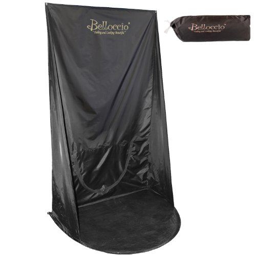 Belloccio Turbo-Tan Brand Black Professional Sunless Airbrush and Turbine Spray Tanning Wall Hanging Backdrop Tent with Nylon Carrying Bag