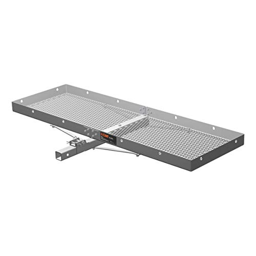 CURT 18100 500 lbs. Capacity Tray-Style Trailer Hitch Cargo Carrier, Fits 2-Inch Receiver (Best Rated Hitch Cargo Carrier)