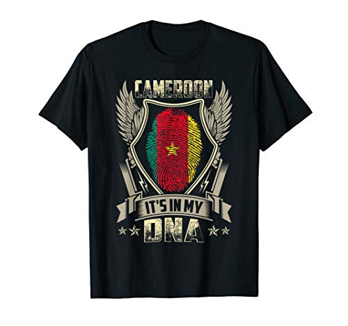 Flag T-shirt Cameroon - It'S In My DNA Cameroon Flag T Shirt Cameroonian Gift