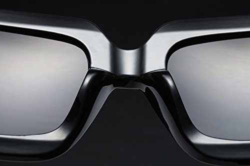 FEISEDY Oversized Square Sunglasses Multi Tinted Glitter Frame Stylish Inspired B2276
