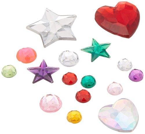 Darice 1078-21 Big Bling Stars and Round Gem Value Pack Rhinestones, Multicolor