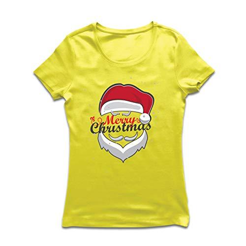 Giallo me In Maglietta Città Lepni Multicolore Babbo Donna Natale Arrivando Sta Natale Buon 4PwTOfq