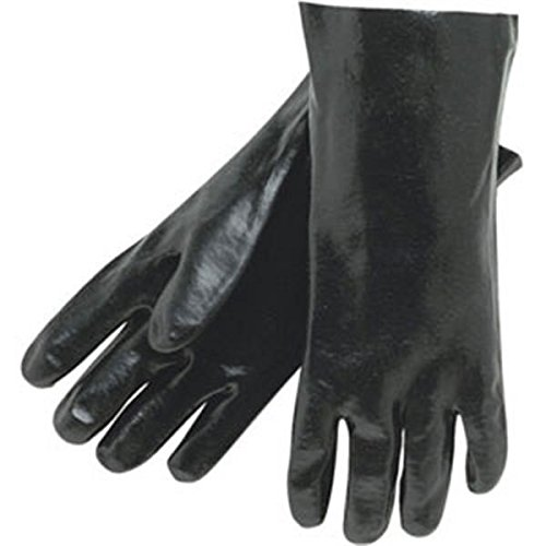 Supported PVC Gloves (Single Dipped, Smooth Finish, 14