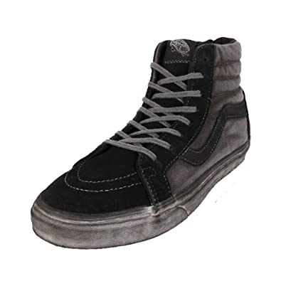 773e31ce46 Vans Sk8-Hi Reissue CA Over Washed Black 47  Amazon.co.uk  Shoes   Bags