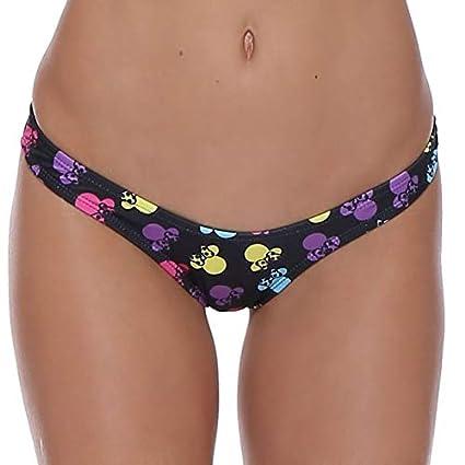 abc717f9e5b53 Amazon.com: CUSHY TOKITIND 10 Colors Bikinis Bottoms high Cut Thong ...