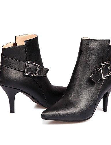 Cn35 De A Vestido us5 Beige Uk3 Moda Black Puntiagudos La 5 Uk4 Semicuero Stiletto Negro 5 Black Casual Cn36 Tacón Eu36 Xzz Zapatos Botas Mujer us6 1q5AF0w